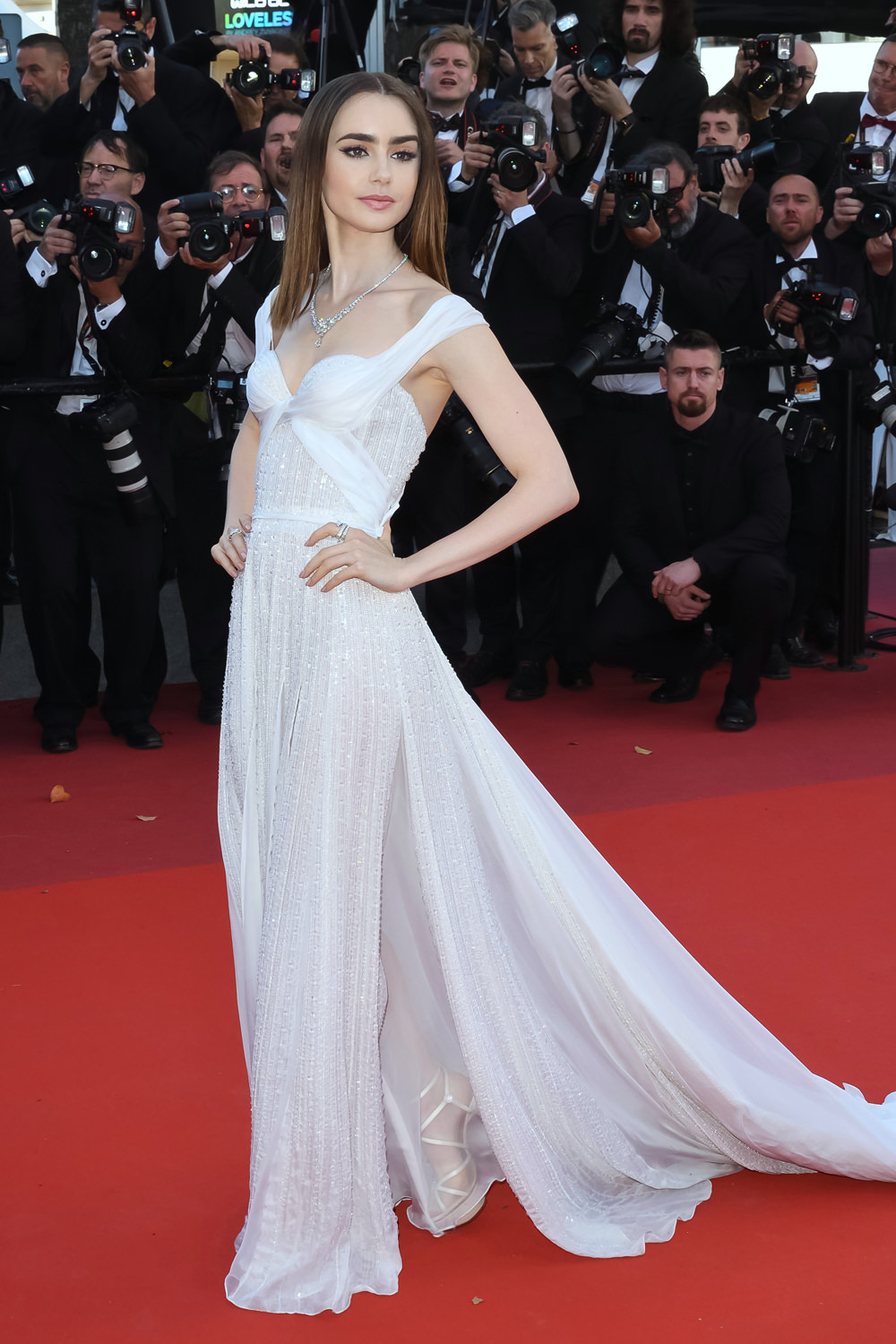 "Cannes 2017 Heidi Klum Continues A Cannes Tradition In: Cannes 2017: Lily Collins At The ""Okja"" Screening: Girl"