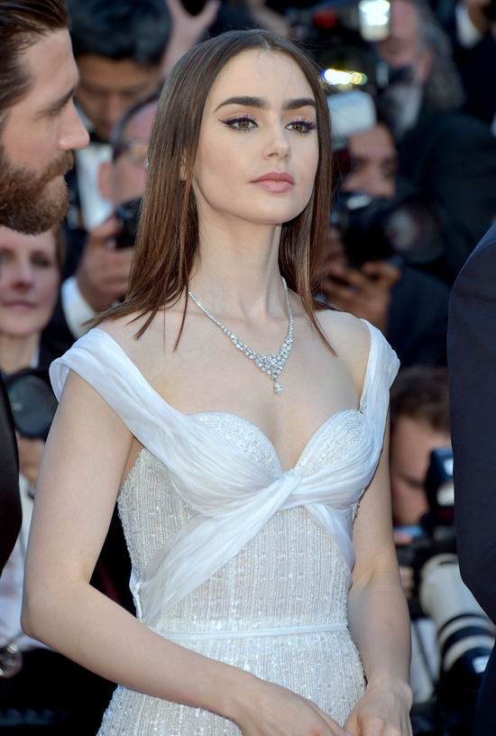 Cannes 2017: Lily Collins at the u0026quot;Okjau0026quot; Screening: Girl, Thatu0026#39;s Not Your Dress : Tom + Lorenzo