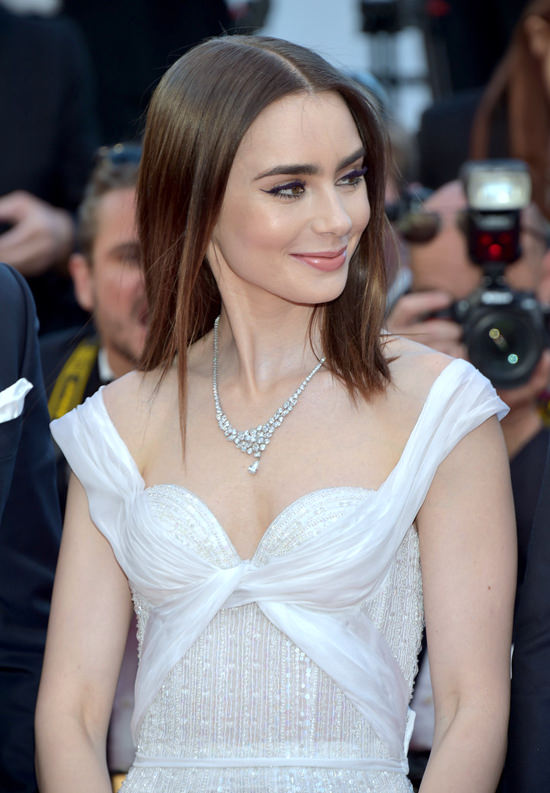 "Cannes 2017: Lily Collins at the ""Okja"" Screening: Girl ..."