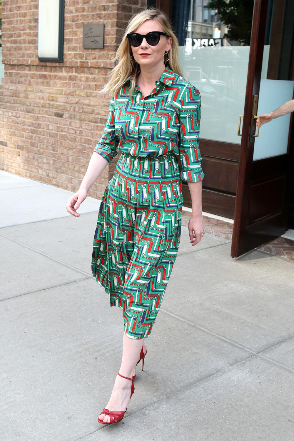 Kirsten Dunst Sports the Perfect Little Day Dress in NYC ...