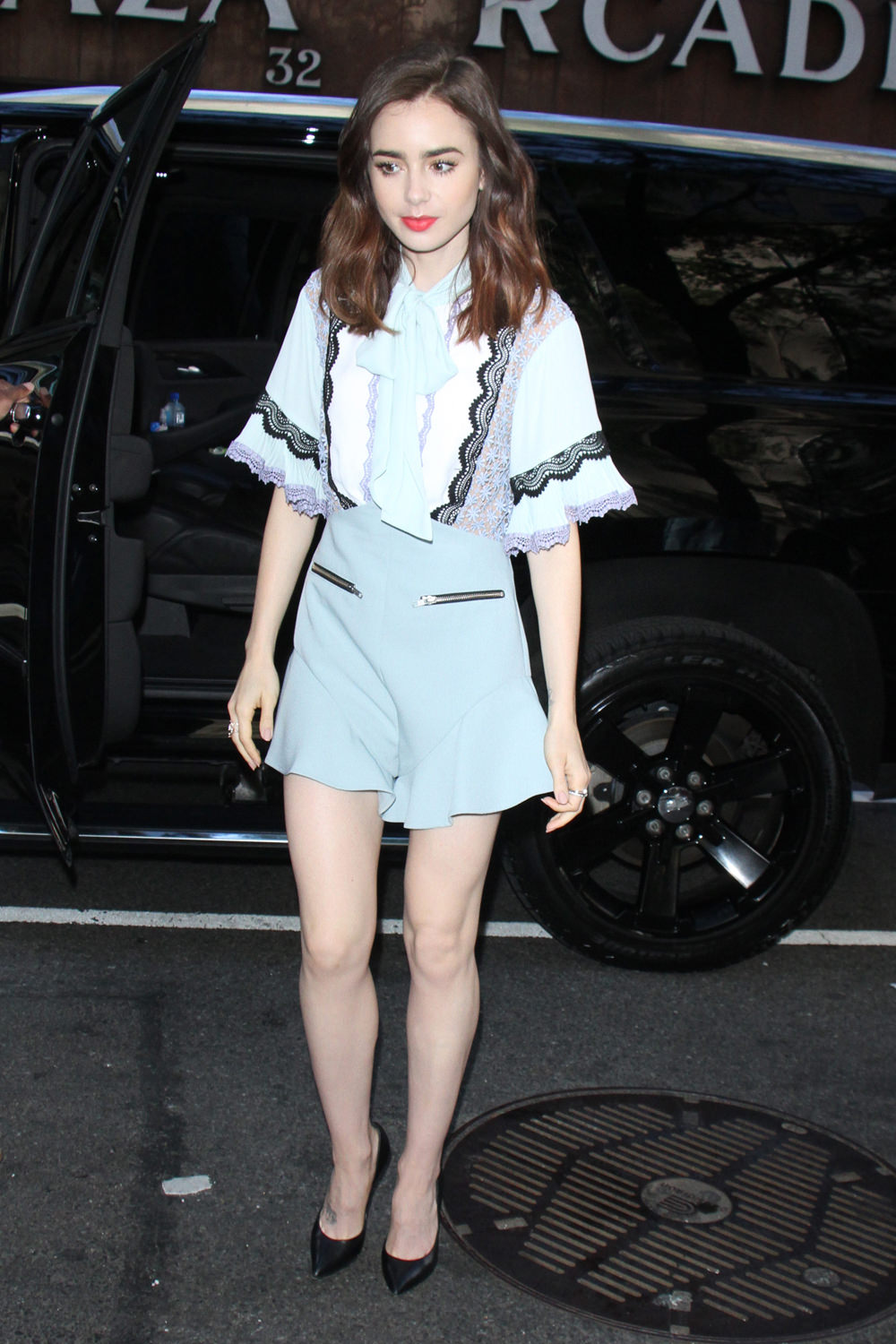 Lily Collins In Self Portrait At The Today Show Tom Lorenzo