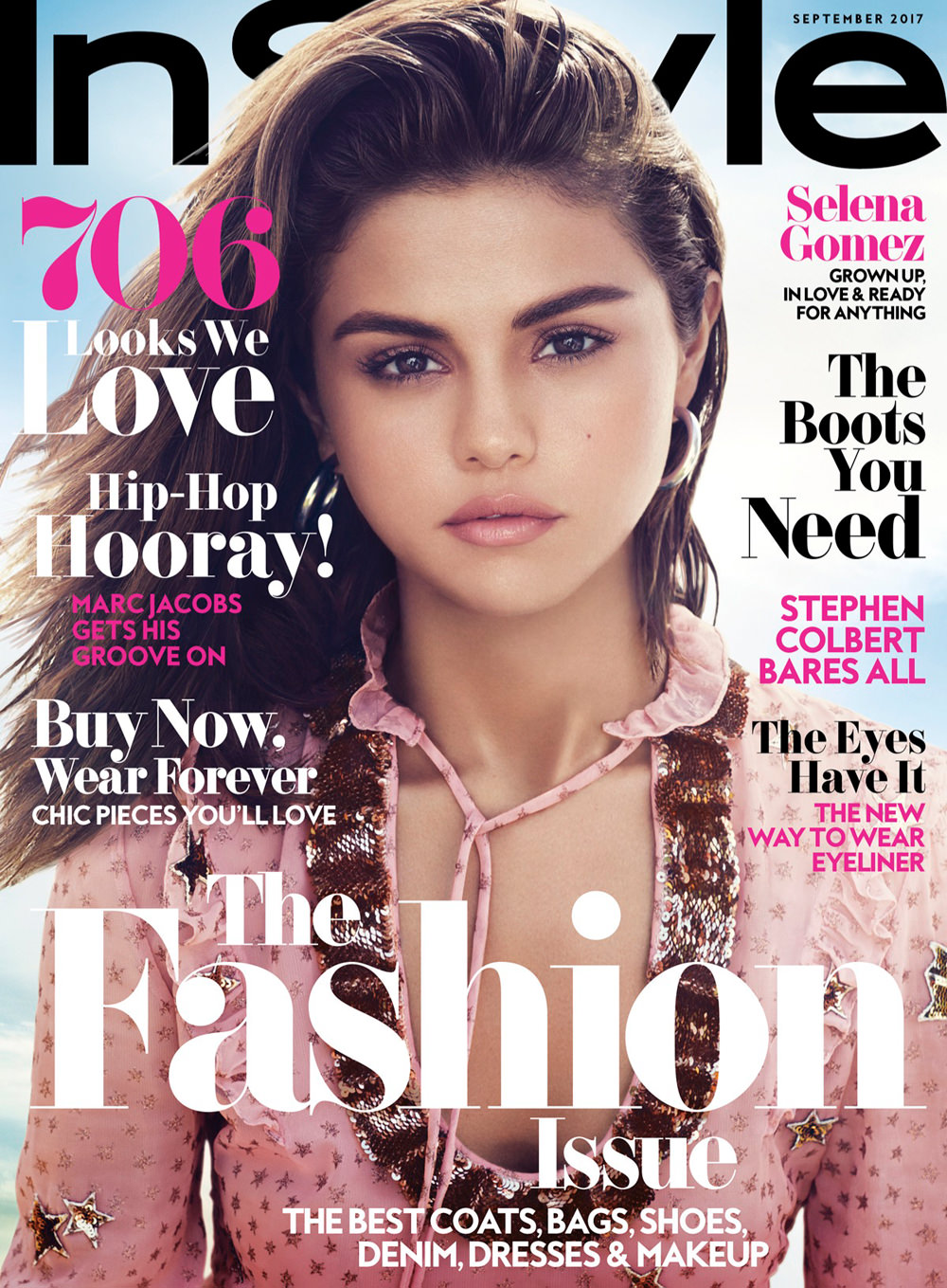 selena gomez covers the september 2017 issue of instyle magazine tom lorenzo. Black Bedroom Furniture Sets. Home Design Ideas