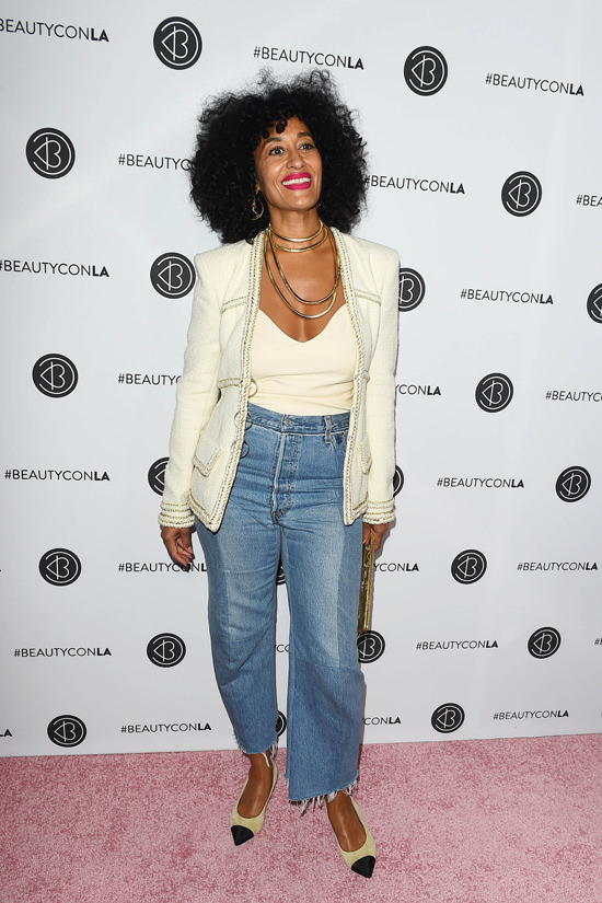 Tracee ellis ross in chanel and vetements at the beautycon for High end fashion websites