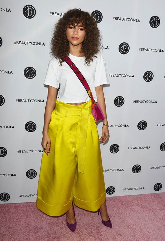 6b30c5a4f Style File: Zendaya Brings Her Crazy Pants to BeautyCon and The Teen ...
