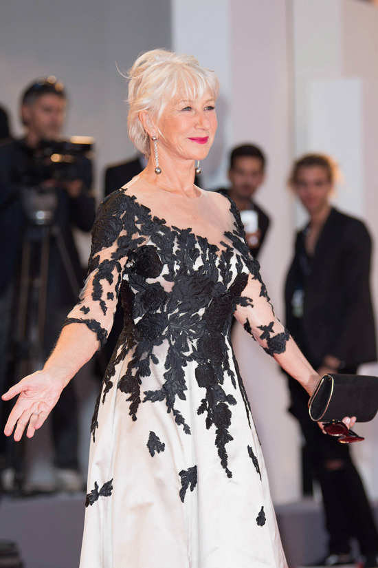Helen Mirren Serves Up Retro Tinged Pretty At The 2017