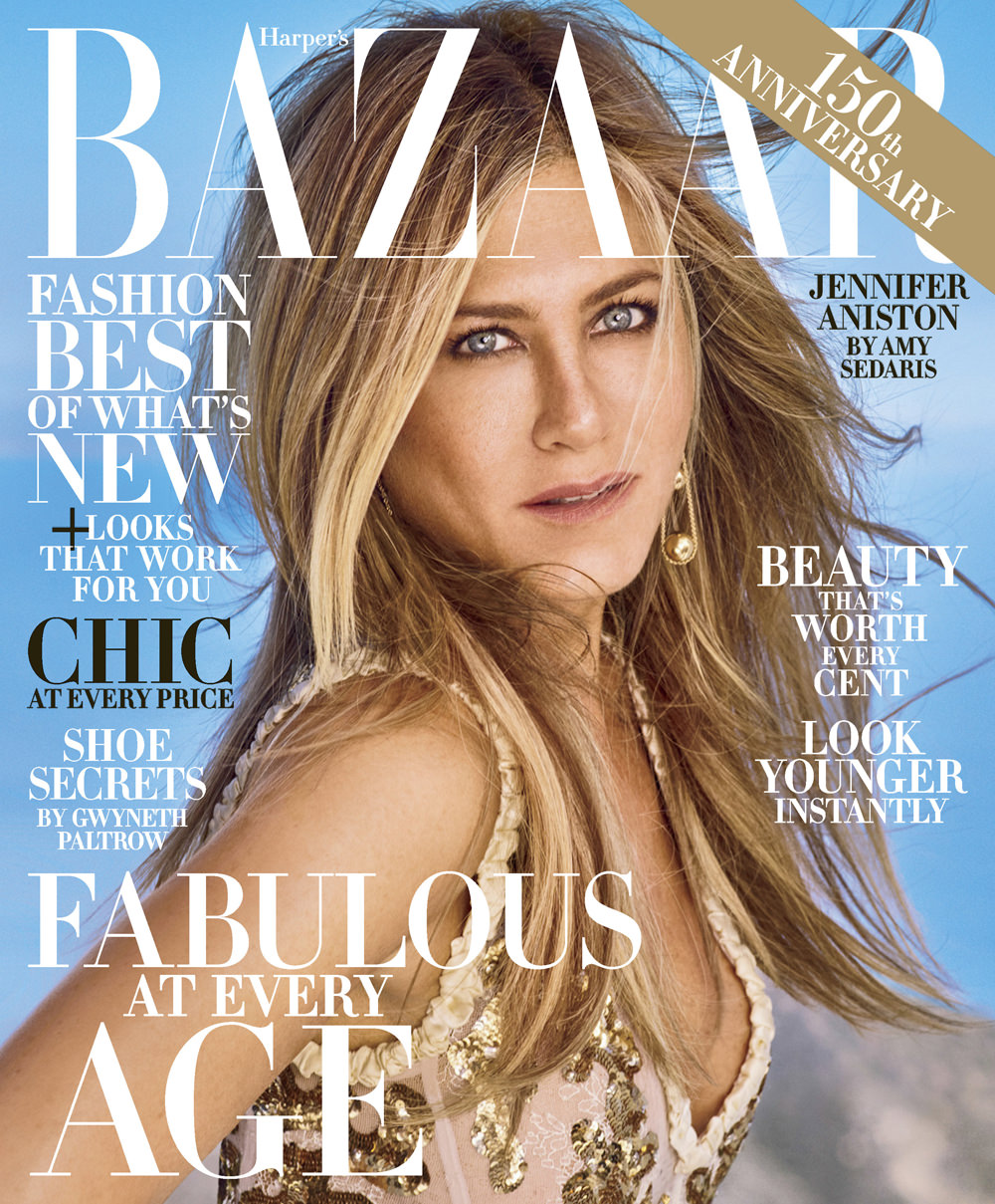 Jennifer Aniston Covers the October Issue of Harper's ...