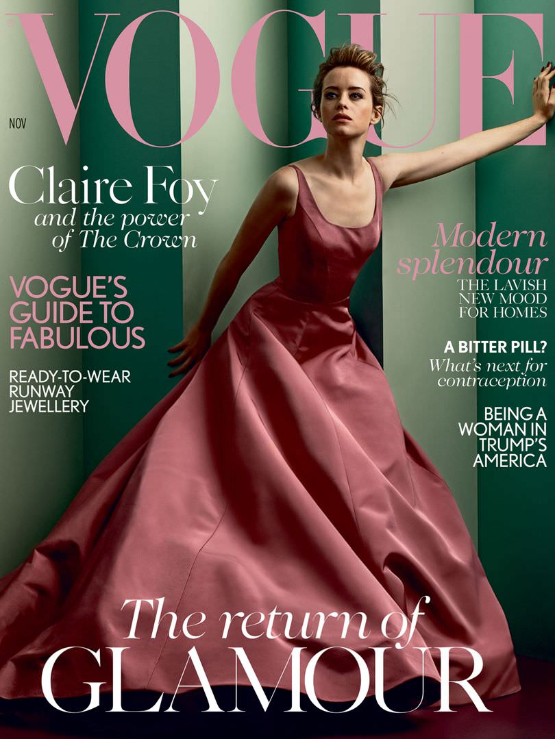 Claire Foy Covers the November Issue of British Vogue ...