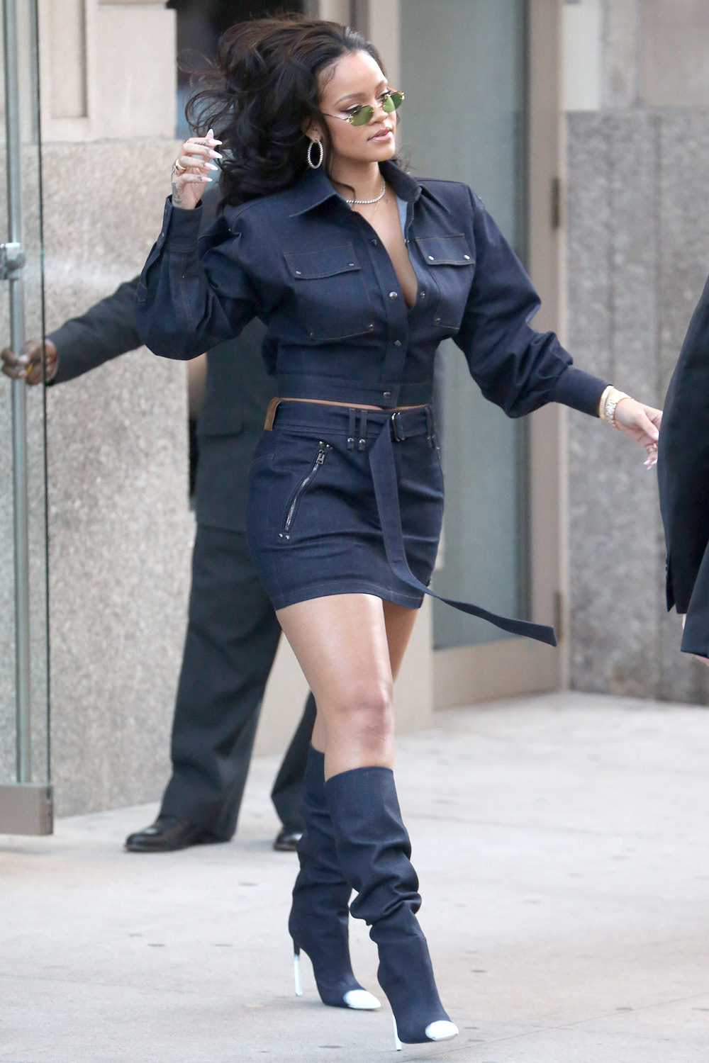 Rihanna Runway Struts The Sidewalks Of Nyc In Tom Ford