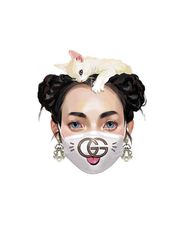dc4c7696aab9 Spanish artist Ignasi Monreal s digital pen is behind 80 illustrations  featured in the 2017 Gucci Gift catalogue. Ignasi weaves Gucci accessories  and ...