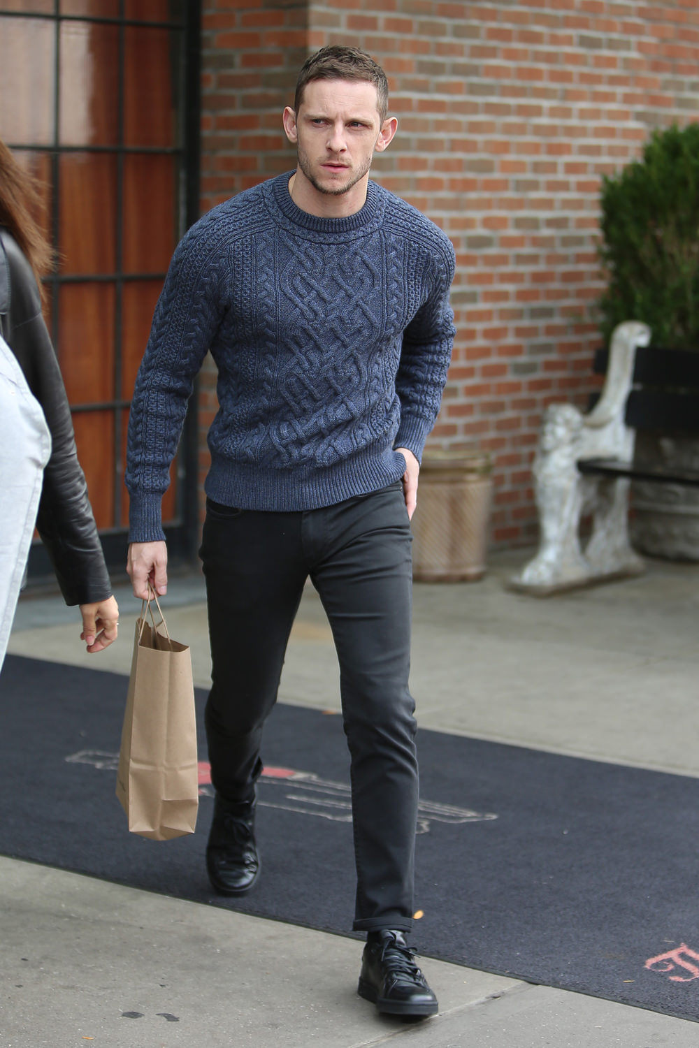 Jamie Bell Leaves his Hotel in NYC in a Tight Sweater and ...