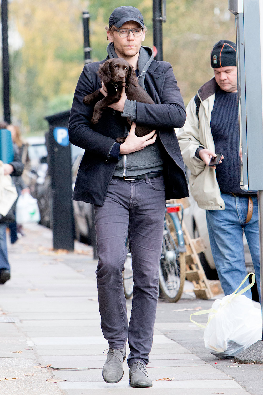Tom Hiddleston Holds His New Puppy in London, For All to ...