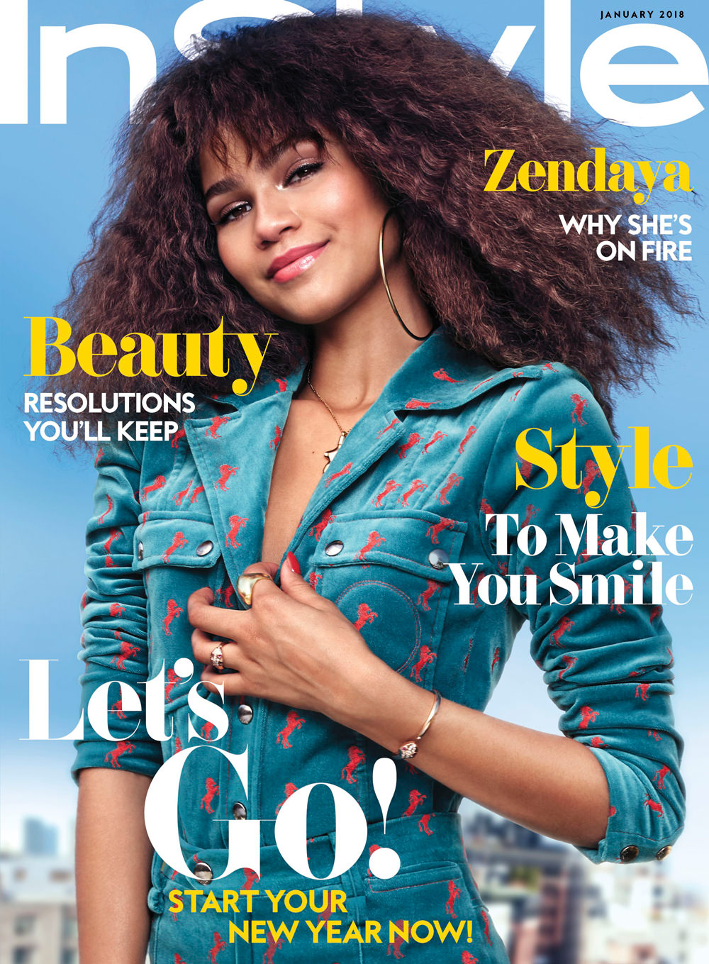 Zendaya Coleman Covers The January Issue Of Instyle Magazine Tom Lorenzo