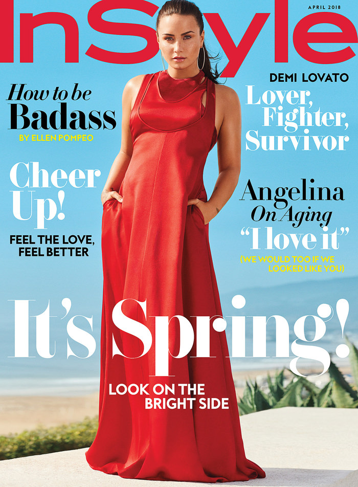 Demi Lovato Covers Instyle 39 S April Issue Tom Lorenzo