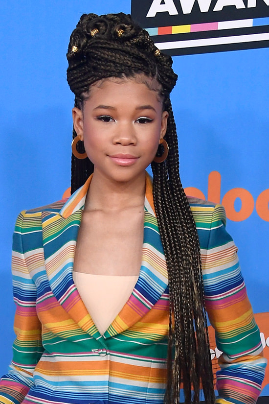 Storm Reid Werqs The Rainbow In Moschino At The Kids