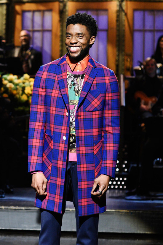 "Chadwick Boseman Slays ""Saturday Night Live"" in Versace ..."