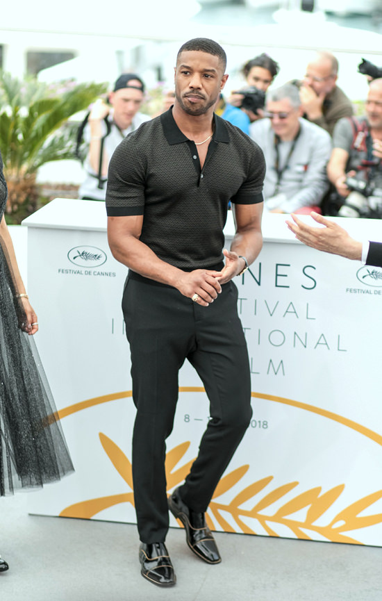 Cannes 2018 Michael B Jordan Flexing At The Quot Fahrenheit