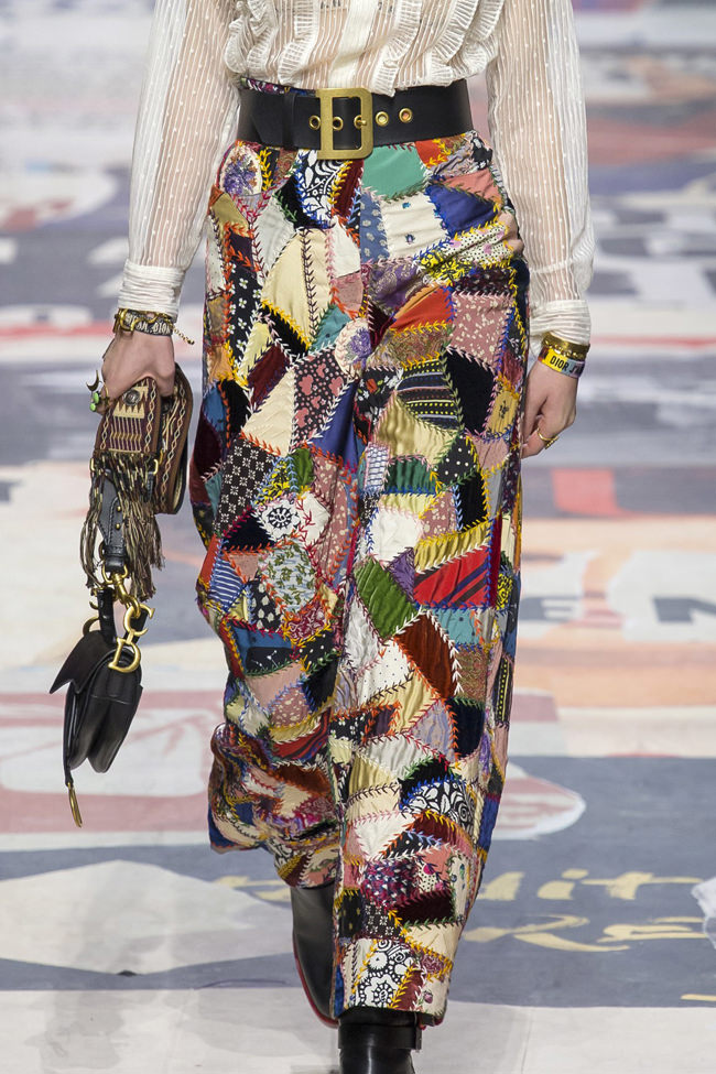 These Christian Dior Patchwork Wide-Legged Pants from the ...