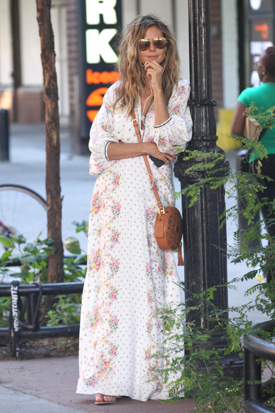 Heidi Klum In Vilshenko Out And About In Nyc Tom Lorenzo