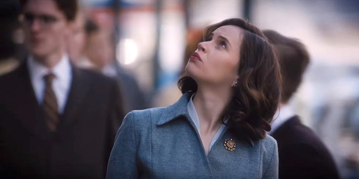 Felicity Jones transforms into Ruth Bader Ginsburg
