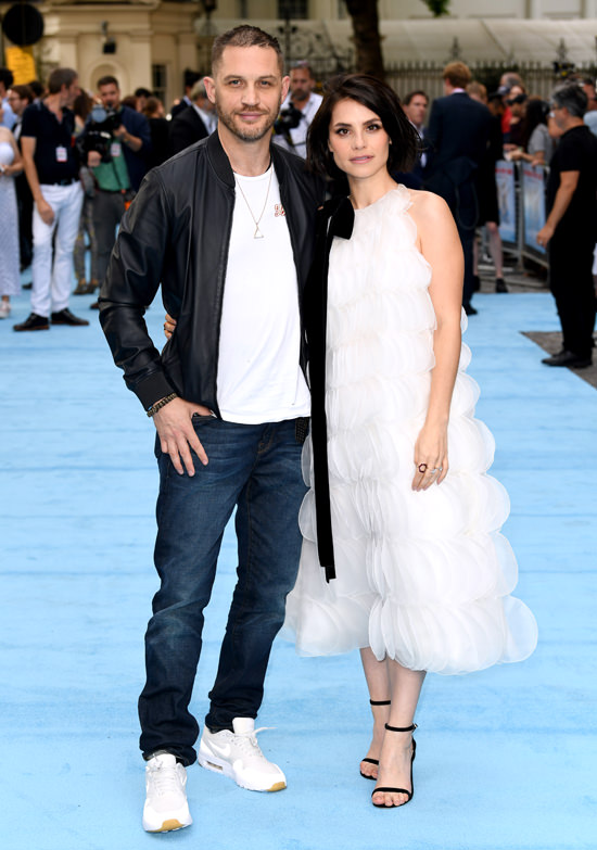 Tom Hardy Fails To Support Charlotte Riley At The