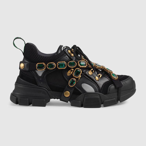 deec89c210ff Sneaker with removable crystals available at Gucci.