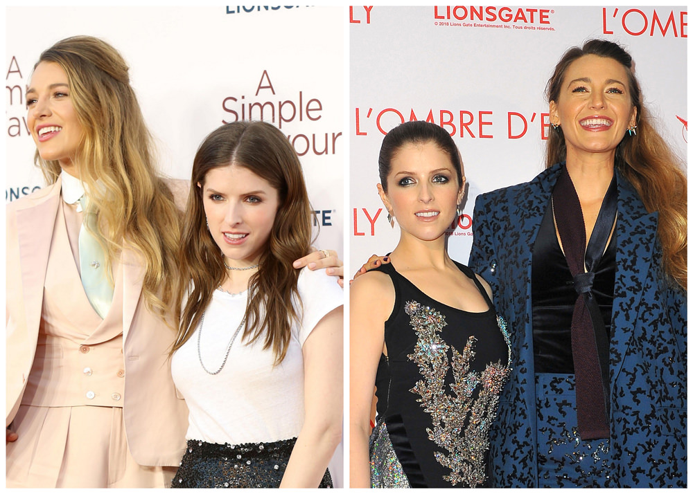 blake lively and anna kendrick at the a simple favor london and paris premiere tom lorenzo. Black Bedroom Furniture Sets. Home Design Ideas
