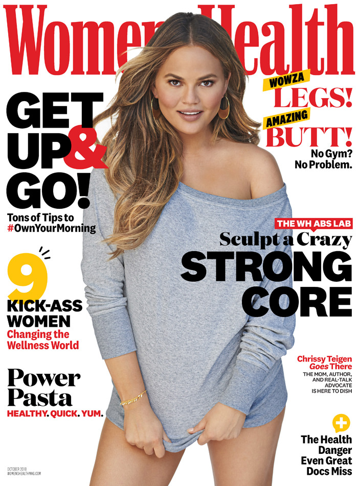 chrissy teigen for women s health magazine tom lorenzo