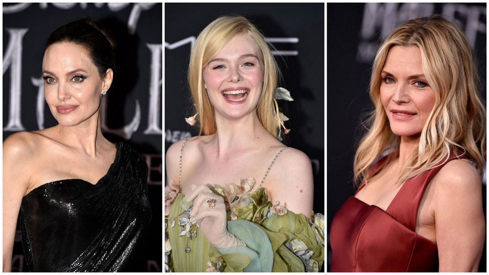 Angelina Jolie Elle Fanning And Michelle Pfeiffer At The