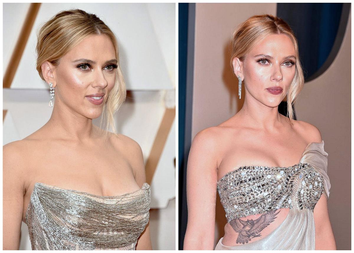 Oscars Style File Scarlett Johansson In Oscar De La Renta Tom Lorenzo