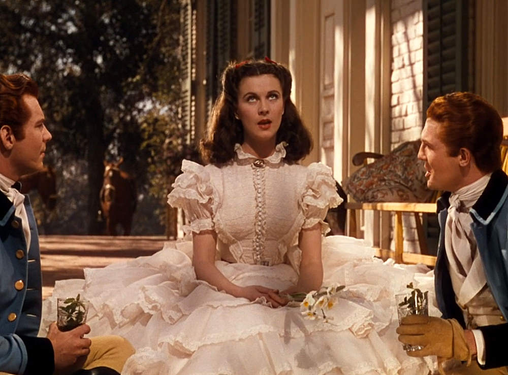 One Iconic Look Vivien Leigh S White Ruffled Gown In Gone With The Wind 1939 Tom Lorenzo