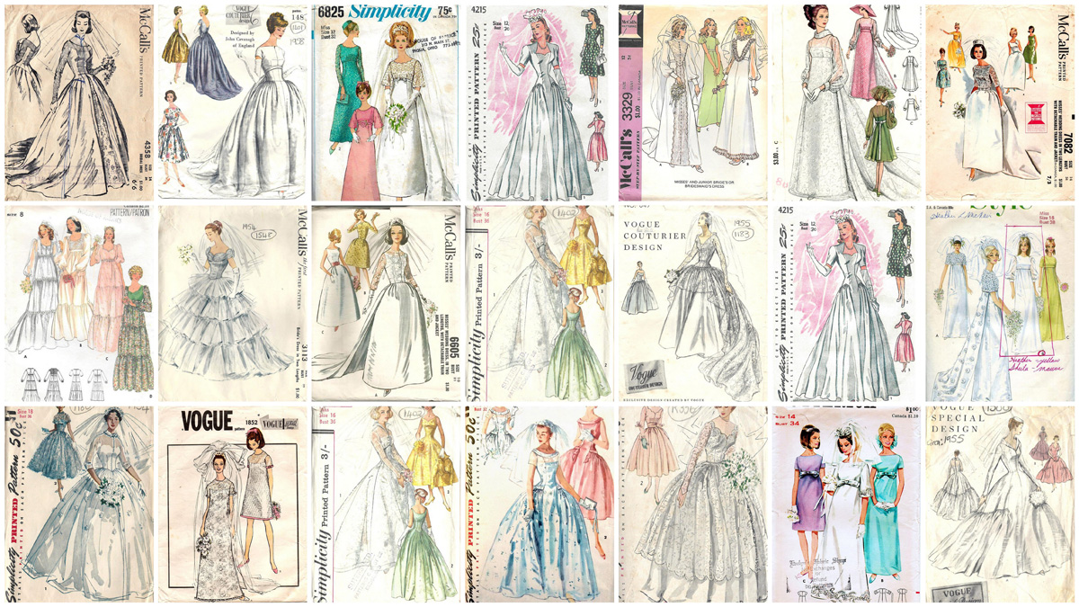 A Gallery Of Vintage 20th Century Wedding Gown Sewing Patterns Tom Lorenzo